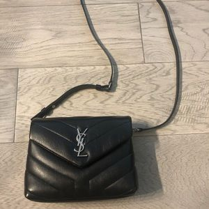 Authentic black YSL crossbody bag